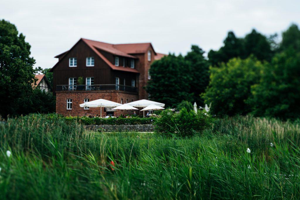 Blick auf das Spreewald resort in Schlepzig